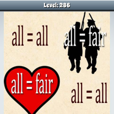essay on all is fair in love and war